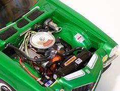 AMT Camaro engine details. Camaro Engine, Truck Engine, Model Cars Kits, Kit Cars, 1970 Camaro, Chevy Models, Truck Scales, Car Kits, Plastic Model Cars