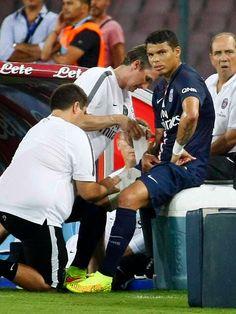 Blog Esportivo do Suíço: Estreia de David Luiz no PSG é marcada por lesão de Thiago Silva
