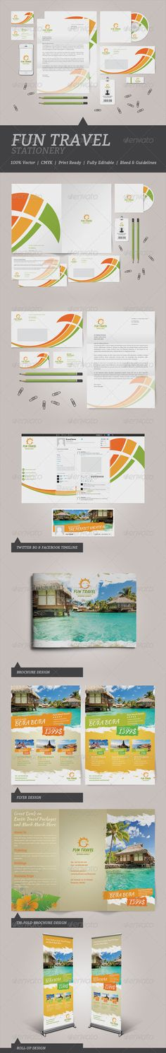 Fun Travel #Stationery - #Stationery #Print #Templates Download here: https://graphicriver.net/item/fun-travel-stationery/4999435?ref=alena994