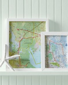 """thread maps?  Michigan maps with brass nails and embroidery floss, the word """"home?"""""""