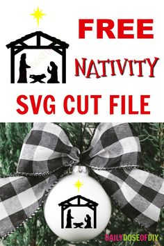 Nativity SVG Cut File Free Nativity Scene SVG file for your Christmas crafts. Use with your Cricut to make ornaments, signs, pillow and more Free Nativity Scene SVG file for your Christmas crafts. Use with your Cricut to make ornaments, signs, pillow and Vinyl Christmas Ornaments, Cricut Christmas Ideas, Christmas Craft Show, Nativity Ornaments, Christmas Templates, Christmas Svg, Christmas Projects, Handmade Christmas, Christmas Bulbs