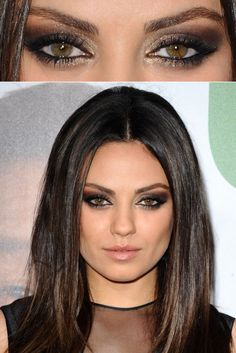 Celebrity Look: Mila Kunis Smokey Eye. Tutorial on board - R