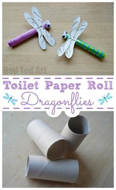 Toilet Paper Roll Dragonfly - Red Ted Art - Make crafting with kids easy & fun Cardboard Tube Crafts, Toilet Paper Roll Crafts, Easy Paper Crafts, Paper Crafting, Animal Crafts For Kids, Easy Crafts For Kids, Toddler Crafts, Crafts To Make And Sell, How To Make