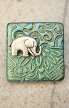 elephant in a pattern jungle