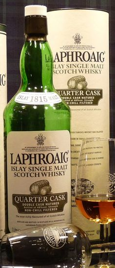 Laphroaig Quarter Cask. Another great (peaty!) Islay whisky. The perfect gift...always the right fit and size!!