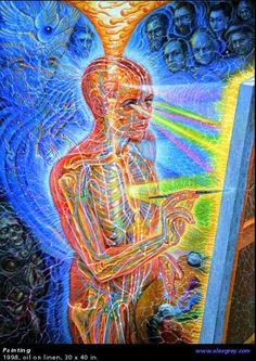My creativity flows freely as I'm not constantly worried about money. Alex Grey Painting art visionary