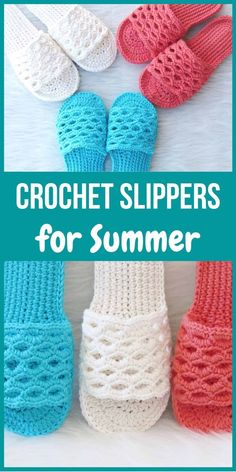 Crochet Summer Slipper Pattern