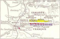 Les Blasons ci dessous, représente, l'armée des coalisés ... Bouvines