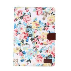 Javu - Samsung Galaxy Tab A 9.7 Hoes - Book Cover Denim Rozen Wit   Shop4TabletHoes