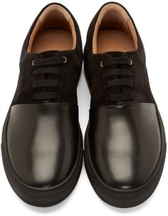 Paul Smith Black Leather Doppio Sneakers