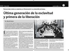 4 de abril del año 2007, nota del periódico Nueva Sión, Buenos Aires