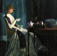 Charles Bittinger Afternoon Tea 1912 - still life quick heart
