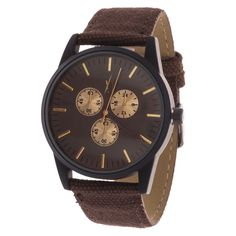 Xtreme Men's Case and Dial / Brown Strap Watch