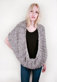 Lola's Snuggly Coffee House Circle Wrap in Marble Grey (Choose your colors!)