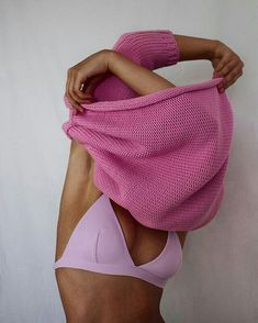 Summer Fashion Tips Pink Sweater With Pink Underwear Bra Spring Pink.Summer Fashion Tips Pink Sweater With Pink Underwear Bra Spring Pink Lingerie Latex, Pink Lingerie, Pink Bra, Vintage Lingerie, Photography Poses, Fashion Photography, Human Body Photography, Art Photography Women, Photography Projects