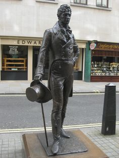 Founding father of Dandyism, the great Beau Brummell, as he still stands on Jermyn Street, St. James's, London