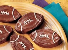 Football brownies...this year's superbowl dessert, found! (and made...definitely a keeper)