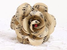 Music Rose  vintage sheet music paper rose by TheHappyLibrarian, Ft1,200.00