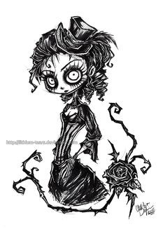 Gothic Lady Portrait by Lithium-Tears.deviantart.com on @deviantART