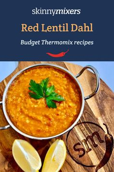 Skinnymixer's Red Lentil Dahl Red Lentil Recipes Easy, Indian Food Recipes, Thermomix Recipes Healthy, Healthy Food, Retro Recipes, Side Recipes, Vegetable Curry, Vegetable Recipes, Vegetarian Dinners