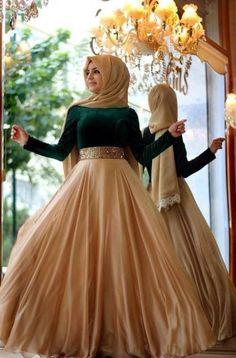 Gaun Pesta Super-Mewah Muslimah