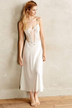 Iced Ivory Gown - anthropologie.com