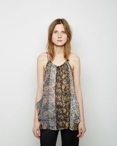 ISABEL MARANT Airy Print Top / TIM645SS15  US $620.00