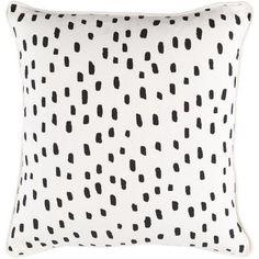 Found it at Wayfair - Glyph Dalmatian Dot Cotton Throw Pillow Cover