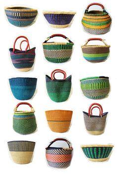 Ghana Bolga Farmers Market Shopper Basket by Swahili Imports. Love African baskets and purses. Rattan, Wicker, Plum Pretty Sugar, Market Baskets, Basket Weaving, Woven Baskets, Storage Baskets, Storage Ideas, Farmers Market