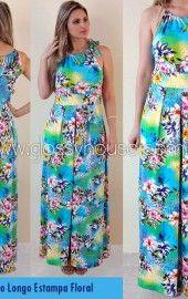 vestidos longos estampados floral