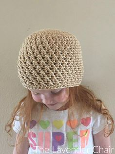 Crossed Double Crochet Beanie (Infant - Child) Crochet Pattern - The Lavender Chair