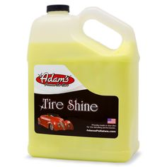 Thompson Racing - Adam's Tire Shine Gallon, $49.99 (http://stores.shopthompsonracing.com/products/adams-tire-shine-gallon.html)