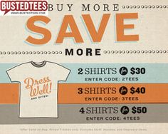 Save on Busted Tees
