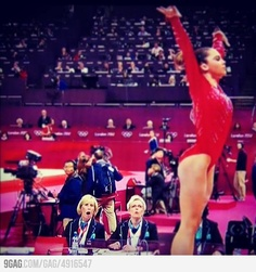 Judge's reaction to McKayla Maroney's vault.