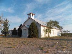Community Church, Maljamar, New Mexico, USA