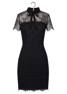 80a1072843fa Robe en dentelle Rozen Noir by SANDRO Elegant Dresses, Nice Dresses, Short  Dresses,