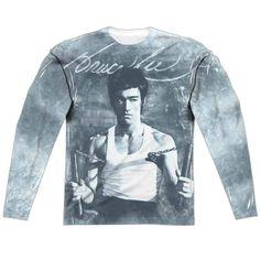 0f7c4db4dd61be Nunchucks Bruce Lee Long Sleeve T-Shirt