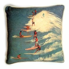 Rock Your Baby I'd Rather Be Surfing Cushion