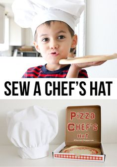Sew a chef's hat. Tutorial.  I think this would be really fun for boys.  They could use for #open-ended play or while cooking.