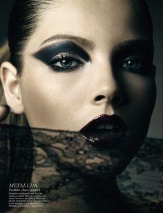 noir - not so basic black - glam smoky eye shadow