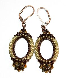 Orynna beaded earrings PDF pattern