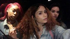 Naima, Kehlani and Amy selfies 2016