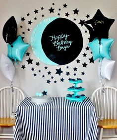 Moon and Star Themed Birthday Party Decor Ideas | Delightfully Noted