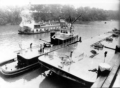 """The """"Zeus"""" was the first tug to deliver a barge load (Brown 220 - barrels) of gasoline when the new Port of Columbus, Georgia opened in 1964 Eufaula Alabama, Army Corps Of Engineers, Steamboats, Tug Boats, Us Army, North West, Mississippi, Columbus Georgia, Florida"""