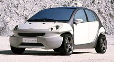 http://chicerman.com carsthatnevermadeit: Smart Tridion 4 2001. A concept which previewed the firstSmart Forfour #cars