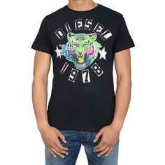 Tee shirt Diesel The King Noir  - marque : Diesel Tee shirt Diesel The King Noir Tshirt col rond Manches courtes Uni Motif centré... prix : 24.90 EUR €  chez C MOD #Diesel #CMOD