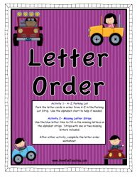Here is a super fun Letter Order center activity for teaching your kids about the order of the letters!
