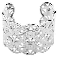 ELLE Jewelry Sterling Silver Reflections Cuff Bracelet; 7.00 inches ELLE Jewelry Jewelry. $599.00