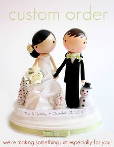 custom wedding cake topper - order for - ANIMARI13. $165.00, via Etsy.