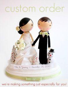 custom wedding cake topper - order for - ANIMARI13. $165.00, via Etsy.